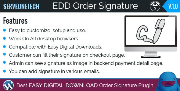 Easy Digital Downloads - Order Signature - CodeCanyon Item for Sale