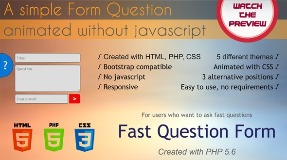 Fast Question Form - CodeCanyon Item for Sale