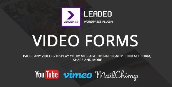 Leadeo - WordPress Plugin for Video Marketing with Social Media Following, Email List, Opt-In form - CodeCanyon Item for Sale