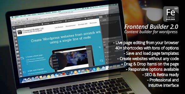 Frontend Builder - WordPress Content Assembler, Page Builder & Drag & Drop Page Composer        Nulled