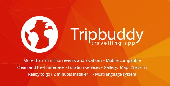 Tripbuddy - Travel, Locations and Events Web App