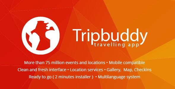 Tripbuddy - Travel, Locations and Events Web App - CodeCanyon Item for Sale