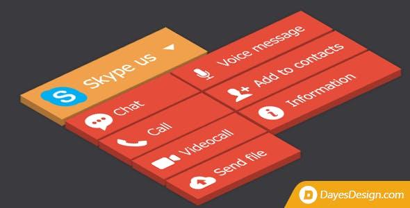Skype Button - add a multi-function skype button
