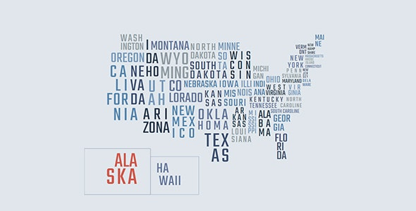 Interactive Textual Map United States - CodeCanyon Item for Sale