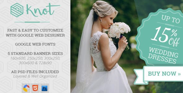 Knot - Wedding HTML5 Ad Template