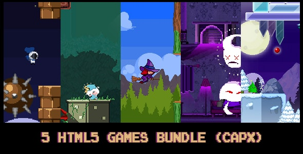 5 HTML5 pixel-games Bundle (capx) - CodeCanyon Item for Sale