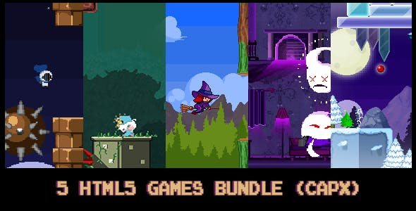 5 HTML5 pixel-games Bundle (capx)