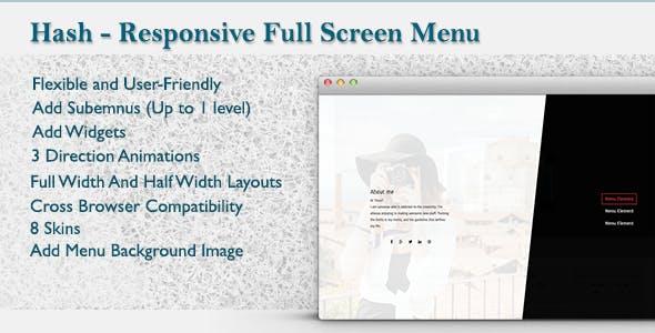 WordPress Responsive Fullscreen Menu