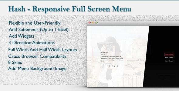 WordPress Responsive Fullscreen Menu - CodeCanyon Item for Sale