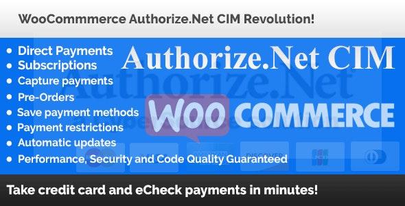 WooCommerce Authorize.Net CIM Revolution! - CodeCanyon Item for Sale