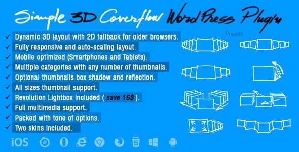 Simple 3D Coverflow Wordpress Plugin - CodeCanyon Item for Sale