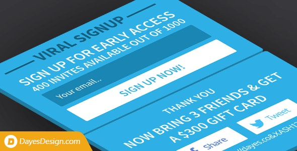 Viral Signup — limited invites signup plugin with viral referral sharing - CodeCanyon Item for Sale