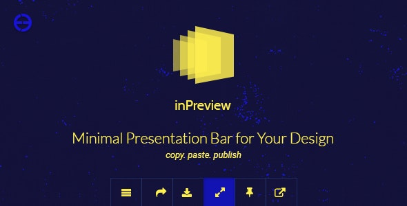 inPreview — Minimal Presentation Bar for Your Design - CodeCanyon Item for Sale