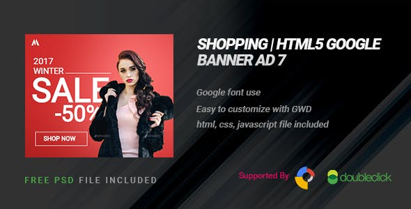 Shopping | HTML5 Google Banner Ad 08