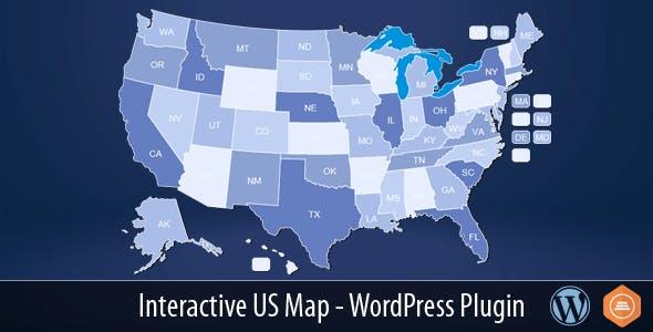 Interactive US Map - WordPress Plugin        Nulled