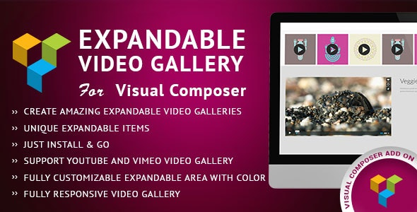 Expandable Video Gallery Visual Composer AddOn - CodeCanyon Item for Sale