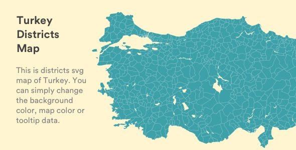 Interactive Vectorel Turkey Districts Map [SVG, JS, HTML5