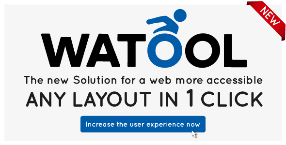Watool for WP - the web accessibility toolbar
