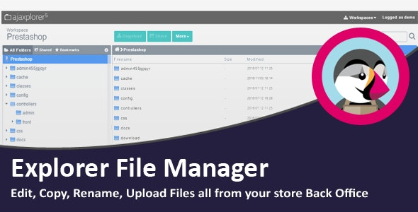 Explorer File Manager - CodeCanyon Item for Sale