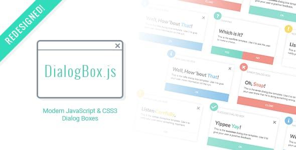 DialogBox - JavaScript & CSS3 Dialog Boxes