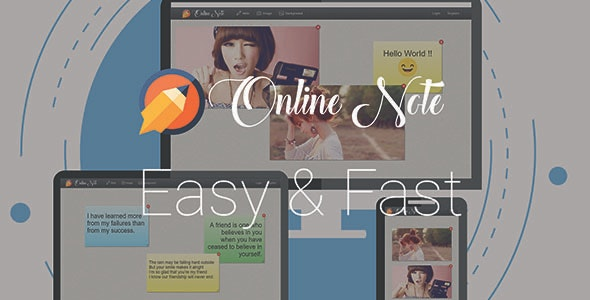 Online Note - Easy and fast - CodeCanyon Item for Sale