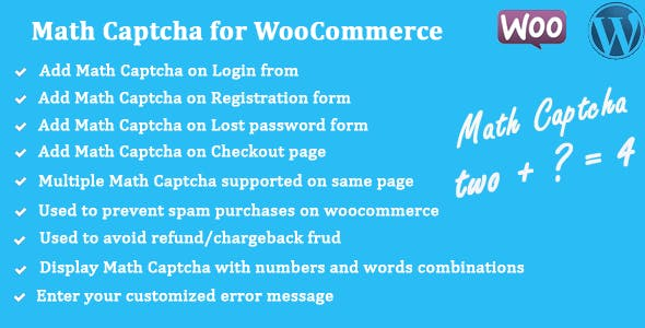 Math Captcha for WooCommerce