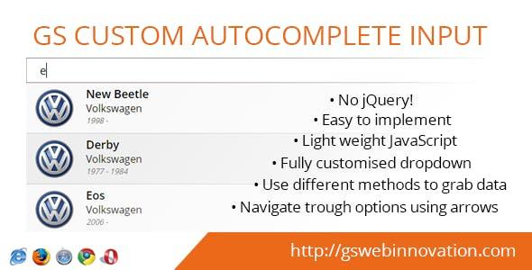 GS Custom Autocomplete Input