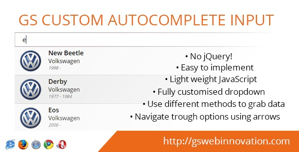 GS Custom Autocomplete Input - CodeCanyon Item for Sale