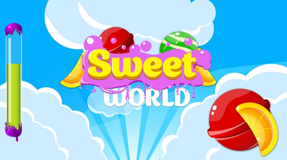 Sweet world - HTML5 game. Construct2 (.capx) + mobile - CodeCanyon Item for Sale