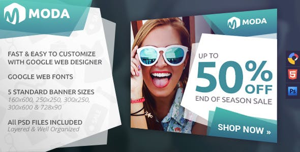 Moda - Fashion HTML5 Ad Template
