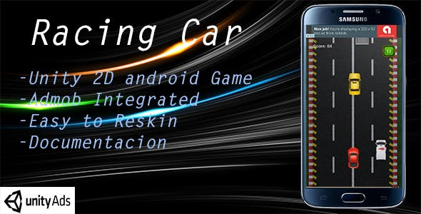 Racing Car Unity game with Admob ads
