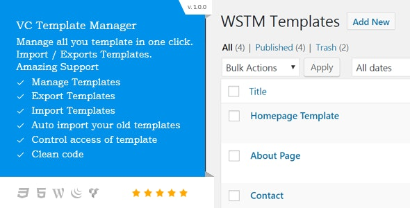 VC Template Manager - CodeCanyon Item for Sale