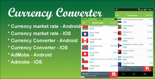 Currency Converter React Native App - CodeCanyon Item for Sale