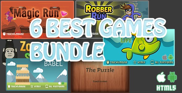 6 Best games bundle-html5