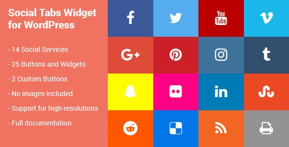 Social Tabs Widget for WordPress