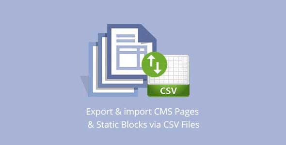 Import/Export CMS Contents