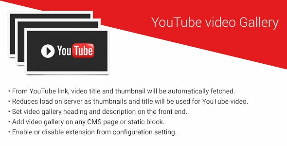 YouTube video gallery magento2 extension - CodeCanyon Item for Sale