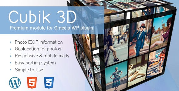 Cubik v1.4 | 3D Cube Gallery Module for Gmedia plugin