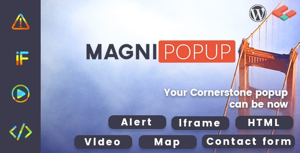 MagniPopup - Modal/Popup for Cornerstone - CodeCanyon Item for Sale