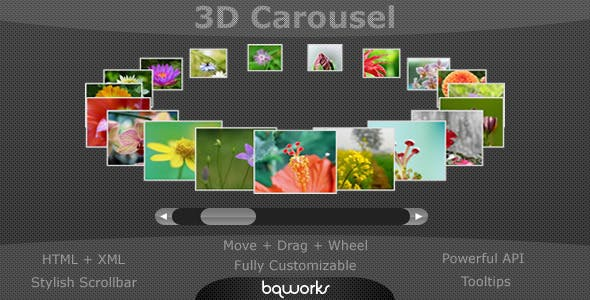 3D Carousel - Advanced jQuery Carousel