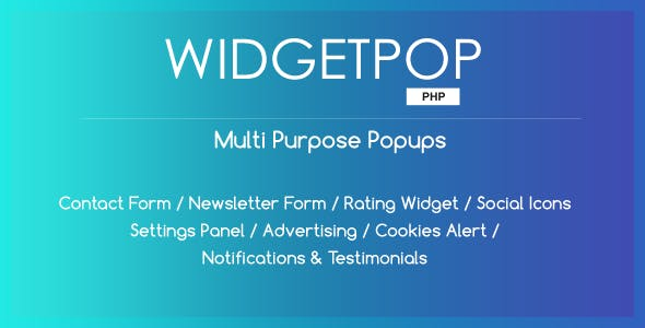 WidgetPop PHP - Multipurpose Ready-made Popup Templates