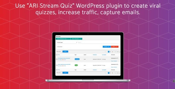 ARI Stream Quiz - WordPress Viral Quiz Creator - CodeCanyon Item for Sale