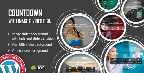 CountDown With Image or Video Background - Responsive WordPress Plugin - CodeCanyon Item for Sale