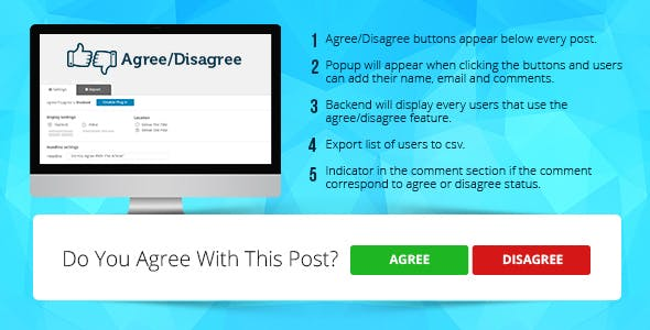 Agree/Disagree Interactive Voting Social Plugin