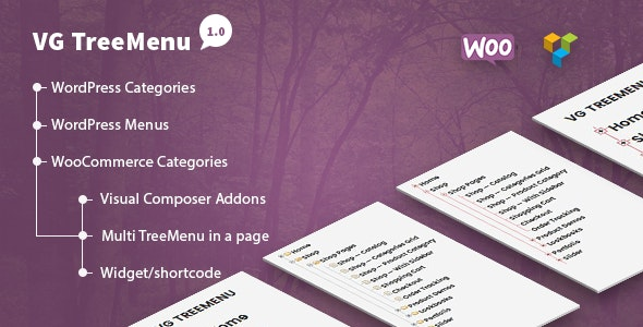 VG TreeMenu - Tree menu for WordPress and WooCommerce - CodeCanyon Item for Sale