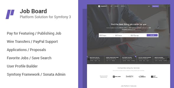 Job Board Platform for Symfony