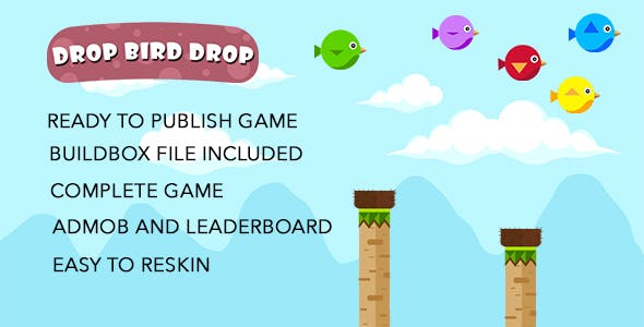 Bird Drop Bird - Buildbox complete game and Xcode Project