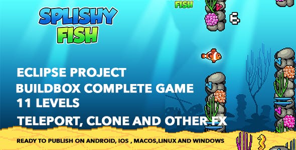 Flappy Fish - Buildbox complete game and Xcode project