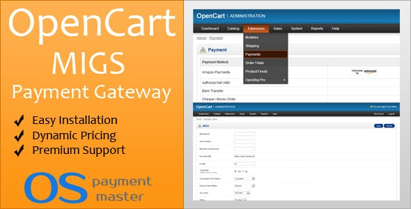 MIGS OpenCart Payment Gateway