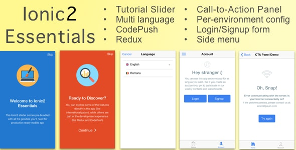 Ionic2Essentials: Starter app with Multi Language Support, Charts, CodePush, Redux and more - CodeCanyon Item for Sale